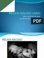 RECIÉN NACIDO SANO CRISTY