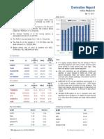 Derivatives Report 14th September 2011