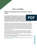 Caracteristicas y Ventajas Autocad 2009