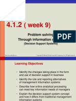 Week 9 - Problem Solving Through Information System