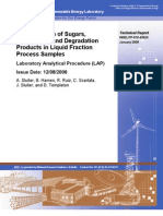 Determination of Sugars Byproducts and Degradation Products in Liquid Fraction Samples NREL