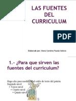 1.- Las Fuentes Del Curriculum