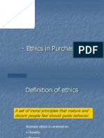 Ethics in Purchasing