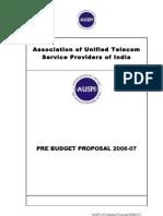 AUSPI Pre Budget Proposals 2006 07