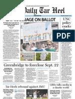 The Daily Tar Heel for September 14, 2011