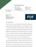 Prashant Bhushan's Reply to Privilege notice