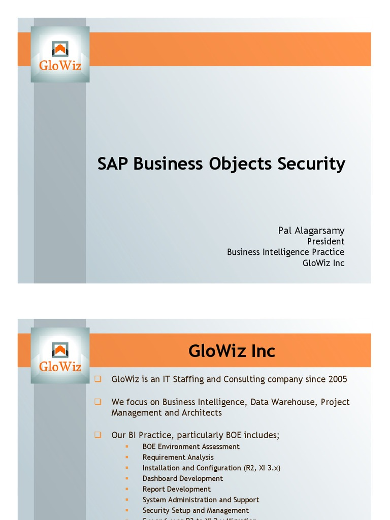 SAP Business Objects Security | Technology | Information Technology ...