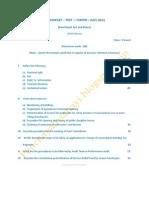 Panchayat Test Paper I July,2011