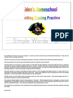 Standard Tracing - Letter P