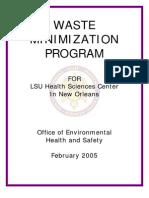 Chemical Safety Waste Minimization Program