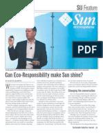 Can Eco-Responsibility Make Sun Shine