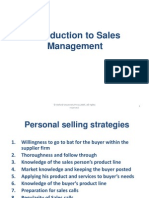 Introduction to Sales Managemet