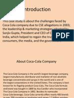 Coca Cola Crisis