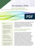DTA Product Factsheet