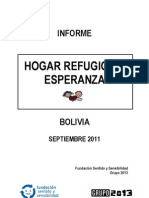 Visita a Refugio de Esperanza Bolivia