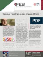Valoriser l'expérience des plus de 50 ans !, Infor FEB 27, 15 septembre 2011