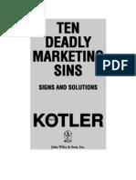 Kotler - Ten Deadly Marketing Sins