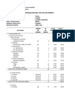 Costos de Produccion Quinua