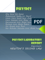 PHYSICS Newton's Second Law experiment