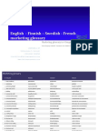 Marketing Glossary in 4 languages