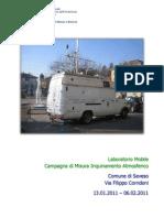 ARPA - Campagna di Misura Inquinamento Atmosferico - Comune di Seveso  - Via Filippo Corridoni