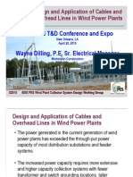 Cable and OH Line in Wind Power Plants
