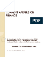 Current Finance Quiz