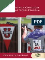 Establishing a Collegiate Shooting Sports Program