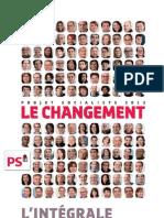 Le projet du PS pour 2012