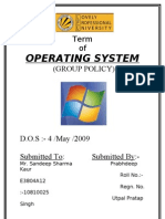 Term Paper of Operating System