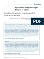 Toxicology of mycotoxins, hazards and risks in human and animal food