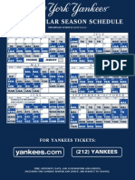 2012 NYY Preliminary Schedule