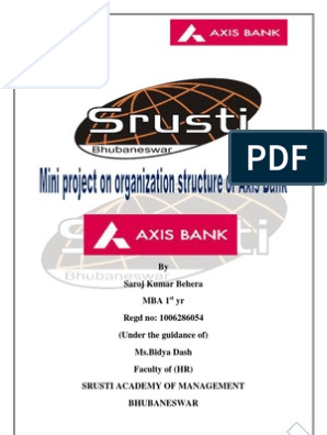 organization structure of axis bank | Organizational Structure | Banks