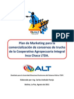 Plan de Marketing para Conservas de Trucha en La Paz
