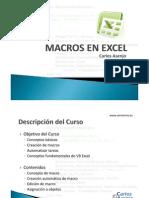 Macros VBA en Excel 2003 y 2007