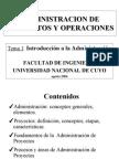 Adm. de Proyectos y Operaciones