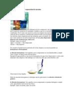 Mezclas y técnicas de separación de mezclas