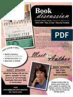 Lipstick Book Discussion Flyer