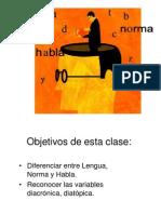 Lengua, Norma y Habla Texto No Literario Primer Nivel
