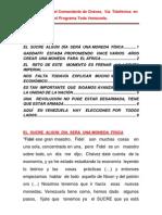 Orientaciones  del Comandante de Chávez,  Vía  Telefónica  en  el Programa Toda Venezuela.