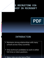 College Recruiting via Internship in Microsoft