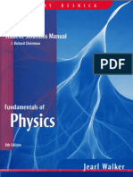 Hallyday Fundamentals of Physics 8E Student Solution Manual