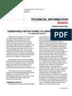 Tib 19 Submersible Motor Pumps vs Lineshaft Turbines