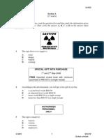 SPM Percubaan 2008 MRSM English Language Paper 2