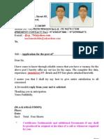 NEW Four Sheet CV