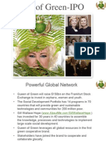 Queen of Green -$150 Bn IPO Sept 15th 2011