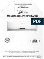 Manual Midea Tipo Split