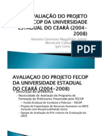 AVALIAÇÃO DO PROJETO FECOP DA UNIVERSIDADE ESTADUAL DO_pptx
