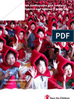 Six-month report on Save the Children's Japan earthquake and tsunami Emergency response and recovery program.