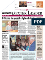 The Dexter Leader Front Page Sept. 15, 2011